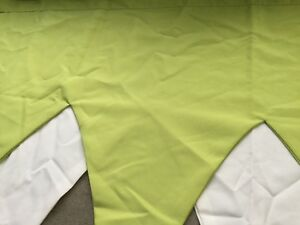 LIME GREEN/CREAM '4 PEAK' SIZE PELMET+READY TO HANG+MADE IN SCOTLAND+UNIQUE+FAB
