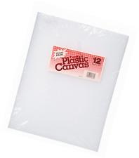 Darice 10.5 X 13.5 pulgadas 7 recuento de lona de plástico, paquete de 12, claro