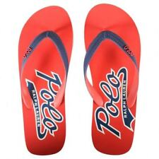 89173c295 POLO Ralph Lauren Red Blue Whitlebury Flip Flops Orange Navy 13   14 Free