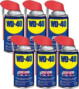 WD-40 - 490027 Multi-Use Product with SMART STRAWSPRAYS 2 WAYS, 8 OZ [6-Pack]