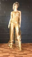 Gold Sauna Suit one big Size PVC Schwitzanzug Folien Anzug