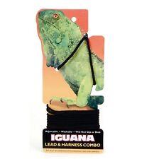 4' IGUANA Bearded Dragon Lizard Black Leash Lead Harness Combo Washable No Slip