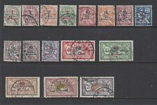 "FRENCH MOROCCO -38-53- USED -1914-21-""PROTECTORAT FRANCAIS"" O/P ON MAROC STAMPS"