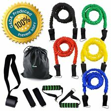 Gada 11Pcs Resistance Band Set,Heavy duty Workout Fitness Exercise Tube Bands