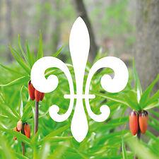10 Stück 8cm weiß Lilie Zeichen Symbol Aufkleber die cut Tattoo Deko Folie