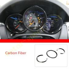 Carbon Fiber Dashboard Decor Frame Trim For Porsche 718 Boxster Cayman 2014-2018