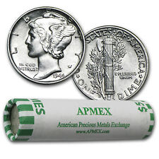 90% Silver Mercury Dimes - $5 Face Value Roll - Almost Uncirculated - SKU #46415