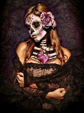 DAY OF THE DEAD - SEXY LACE - BENITO ART POSTER - 24x30 SKULL GOTHIC 9147
