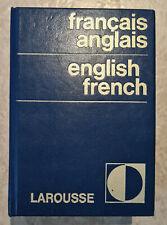 Dictionnaire Larousse francais-anglais english-french