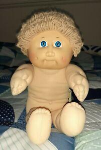 Vintage Cabbage Patch Kid ~ Boy Doll, Tan Loops, Blue Eyes, Rosie Cheeks