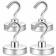 Neosmuk Magnetic Hooks Heavy Duty100 Lb Strong Magnet With Hook For Fridge Su