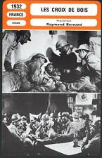 LES CROIX DE BOIS - Blanchar,Vanel,Gabrio (Fiche Cinéma) 1932 - Wooden Crosses