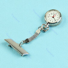 Women Men Clip-on Brooch Pendant Necklace Nurse Doctor Quartz Pocket Watch New