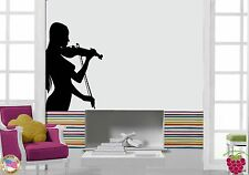 Wall Stickers Vinyl Decal Violinist Music Beautiful Girl z1090
