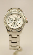 Unisex Fashion Watch Silver Color With Stone On Bazel B/New Hot Seller