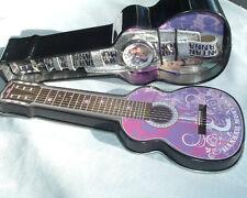 Disney Hannah Montana Armbanduhr NEU Guitar Zinn-Metall Leder Band