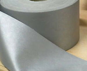 5 Meters Silver Reflective Iron On Heat Applied Tape Gray 50 mm Hi Visibility
