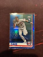 2019 Topps Chrome Jake Cave RC SP Blue Refractor #/150 Twins