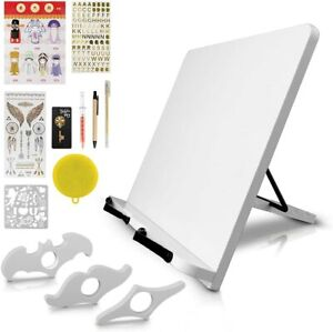 JIBILL Adjustable Bookstand Holder Foldable Cookbook Tray for Reading Desk Book