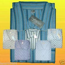Herren Nachthemd 1/1 Arm 100% gewebte Baumwolle Flanell angerauht (Gr. 46 - 64)