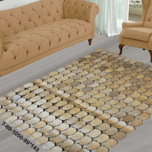 Modern floor rugs patchwork cowhide rug Bohemian new rugs online AU 7-89