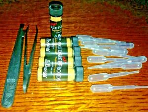Coral Feeding Kit 10 small Pipettes, 2 asst. Tweezers, 5-FREE Reef Roids samples