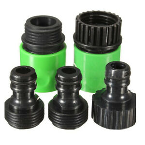 5 Pack Garden Hose Water Pipe Quick Connector Pipe-connector Adapter Accessories
