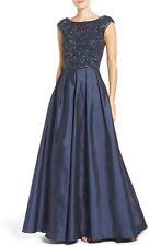 Aidan Mattox Twilight Blue Embellished Mesh & Taffeta Ballgown - NWT Size 4 $495