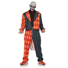 Thriller Scary Evil Killer Clown Teen 14-16 Halloween Costume Black Orange Tux