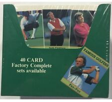 1993 Fax Pax Famous Golfers Factory Sealed Golf Box Jack Nicklaus Palmer 40 Pack