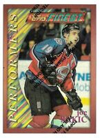 1995-96 Joe Sakic Topps Finest Performers Refractor #80 - Colorado Avalanche