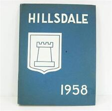Hillsdale High School Shield 1958 Year Book Carol Fox aka Foxie Junior Year Band