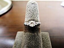 CERTIFIED DIAMOND ROUND SHAPE CENTER SIDE 2 ROUND 4 TAPERED BAGUETTE ENGAGEMENT