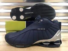 Nike Shox Bb4 ID 2005 OG Vince Carter Shoes Navy Blue Silver Sz 11 ( 302997 )