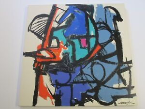 LARGE KENNETH JOAQUIN PAINTING CALIFORNIA MODERNIST ABSTRACT EXPRESSIONISM 3 FT