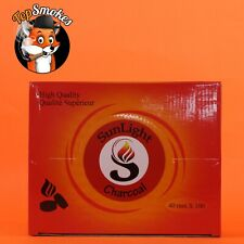 100 Pcs Sunlight 40MM Hookah Coal Quick Lite Shisha Charcoal Incense 1 Box