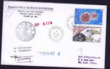 RARE FRANCE ANTARCTICA EXPEDITION TEAM SIGNATURE 1987 , ON THE COVER