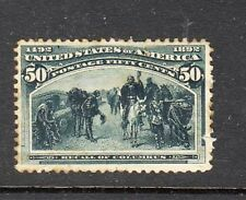USA Stamps 1893 Columbian Exposition Issue 50c Recall of Columbus, mint, paper s