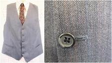 44R L-vintage années 70 homme gilet gris rayure rouge Tweed Smart Rétro Mod-C472
