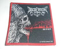 DISCREATION DEATH METAL WOVEN PATCH