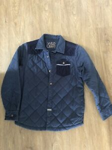 Boys Navy Quilted Style Jacket Age 8-9 Years