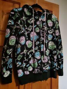 Iron fist skull cake eyeball candy womens zip up hoodie size S