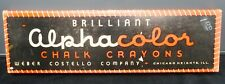 Vintage Alphacolor Chalk Crayons by Weber Costello Very Little Use. Mint!