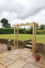 Zest 4 Leisure Twilight Wooden Garden Arch  Plant Support Trellis FSC Wood