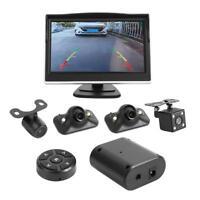 "5"" Monitor 360° Rear View System Backup Reverse 4 Camera Car DVR Recording Cam"