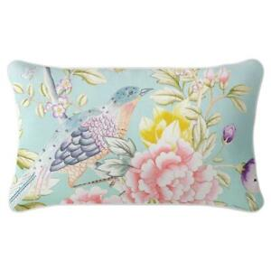 Oriental Romance - Premium Cushion Cover Quality Indoor Outdoor Aqua Chinoiserie