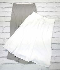 RELAX: 2 x Helmut Lang White Crepe  & James Perse Maxi Skirt New SzM/UK12