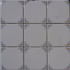 Delft Style Wall Tiles Blue and Yellow Oxen Corners (4 S/F)