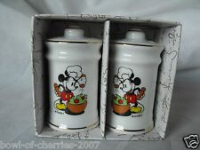 "Mickey Mouse Disney Salt and Pepper Shaker Set, 2-1/2"" tall, new in box no lid"