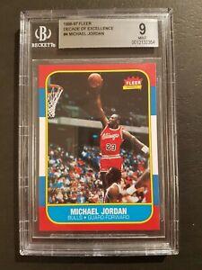 MICHAEL JORDAN 1996-97 Fleer Decade Of Excellence Insert BGS 9 🔥 86-87 RC PSA